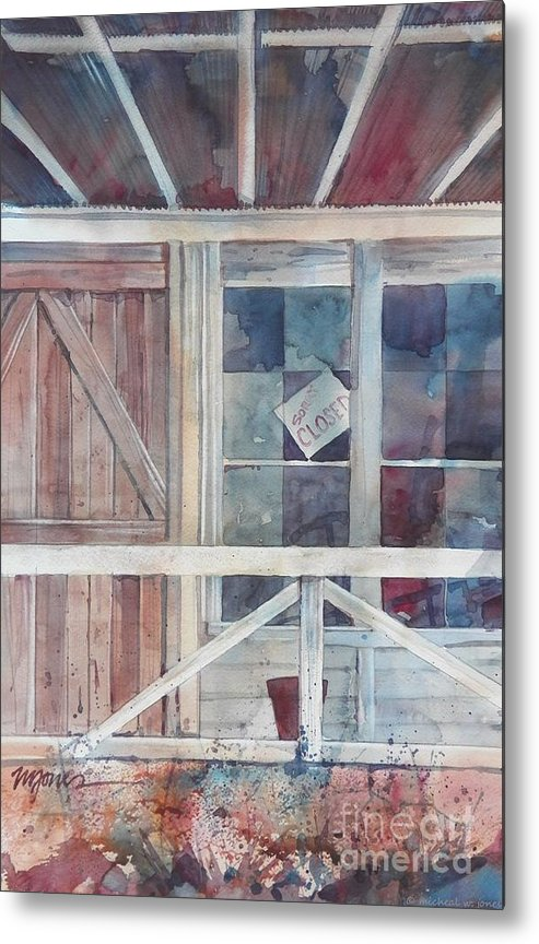War Eagle Metal Print featuring the painting Store At War Eagle by Micheal Jones