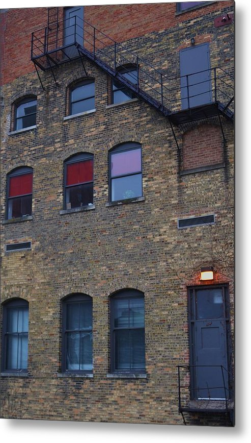 Old Building Metal Print featuring the photograph Red Window by Todd Sherlock