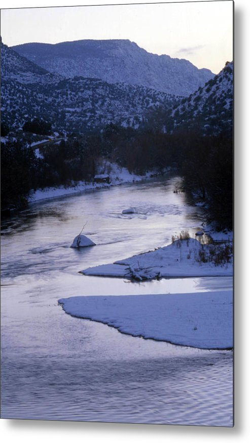 Landscape Metal Print featuring the photograph Cold And Blue by Lynard Stroud