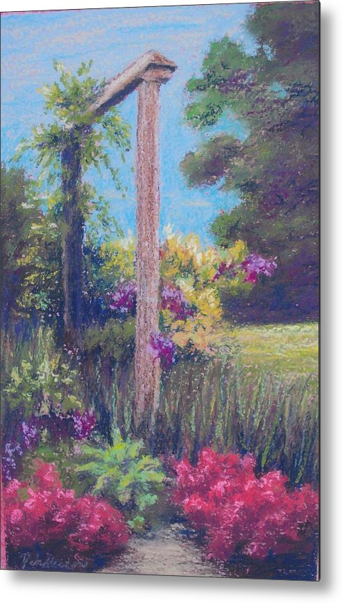 Gardens Metal Print featuring the painting Gardener's Dream by Miriam Pinkerton