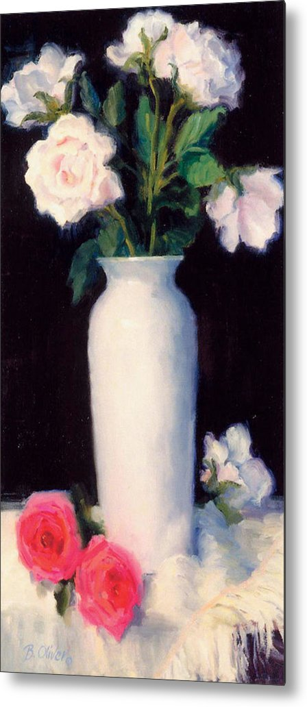 Still Life Metal Print featuring the painting Simple Elegance by Bunny Oliver