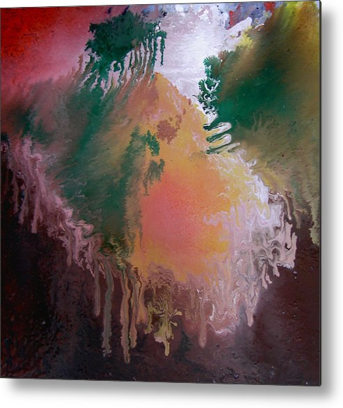 Abstract Metal Print featuring the painting Abstract2 by Min Zou
