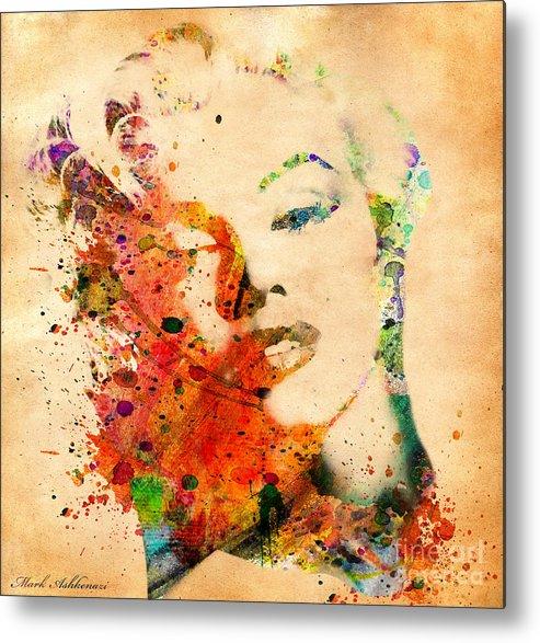 Marilyn Monroe Metal Print featuring the digital art Beloved by Mark Ashkenazi