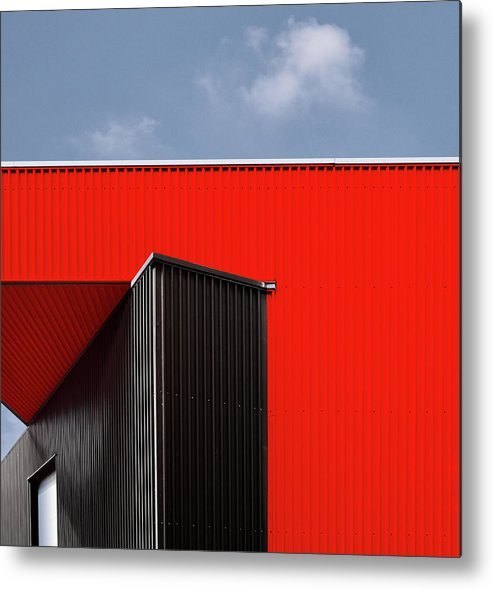 Red Metal Print featuring the photograph Black/red. by Harry Verschelden