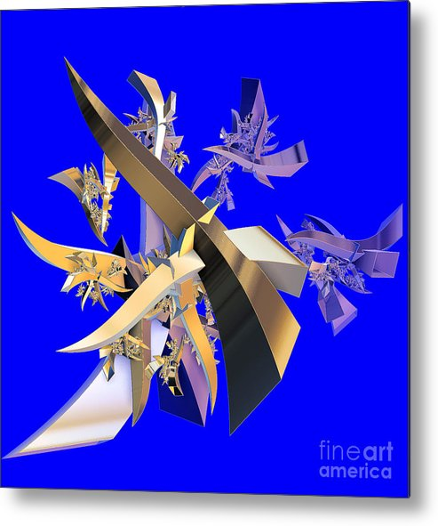 Abstract Metal Print featuring the digital art Chinese Puzzle by Brian Raggatt