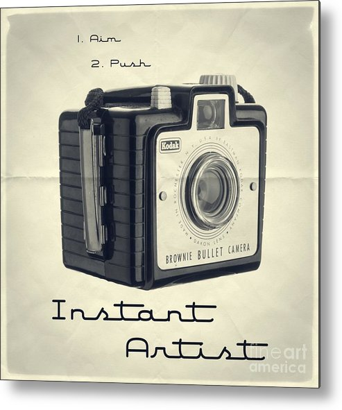 Isolated Metal Print featuring the photograph Instant Artist by Edward Fielding
