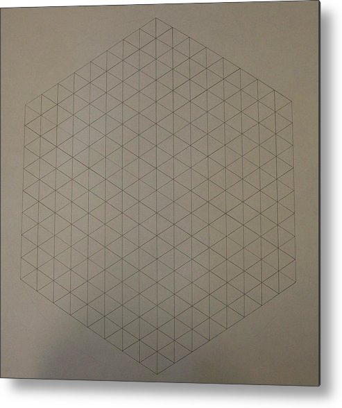 Math Metal Print featuring the drawing Two To The Power Of Nine Or Eight Cubed by Jason Padgett