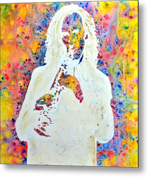 Music Metal Print featuring the painting You Are Beautiful by Ivan Guaderrama