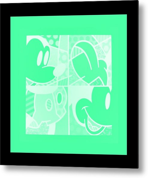 Mickey Mouse Metal Print featuring the photograph Mickey In Negative Light Green by Rob Hans