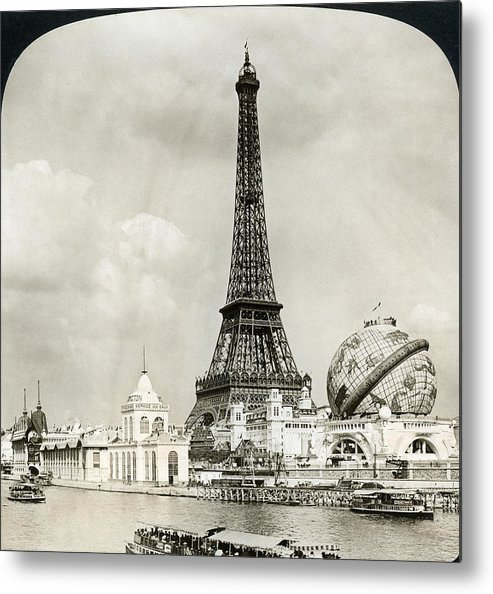 1900 Metal Print featuring the photograph Eiffel Tower, 1900 by Granger