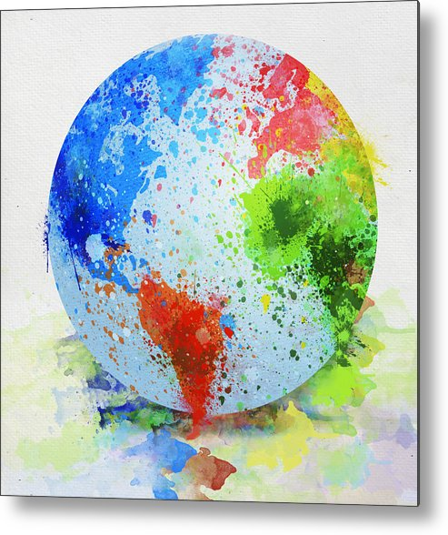 Adventure Metal Print featuring the painting Globe Painting by Setsiri Silapasuwanchai