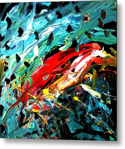 Parrot Metal Print featuring the painting Parrot Magnet by Neal Barbosa
