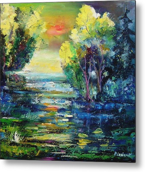 Pond Metal Print featuring the painting Magic Pond by Pol Ledent