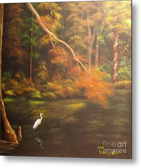 Bayou Metal Print featuring the painting Bayou Blues by Ann Kleinpeter