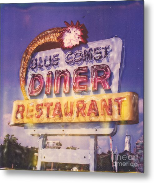 Polaroid Metal Print featuring the photograph Blue Comet Diner - Hazelton by Steven Godfrey