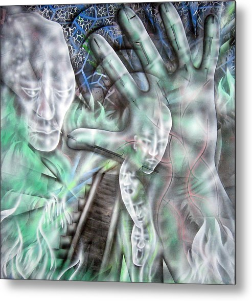 Surreal Metal Print featuring the painting Building Dreams by Leigh Odom