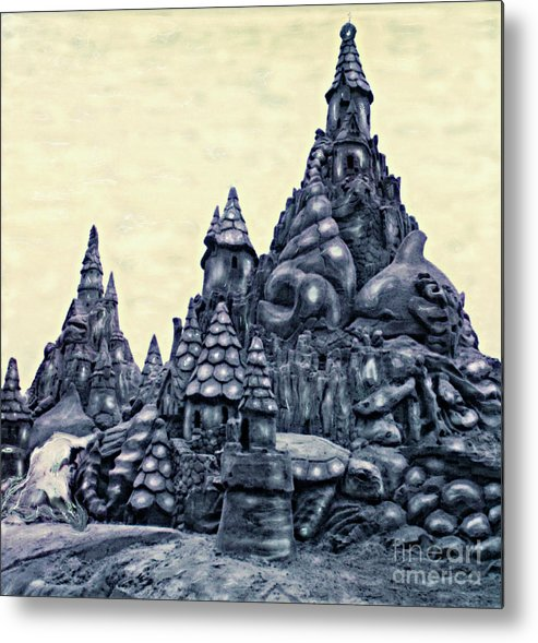 Sandcastles Metal Print featuring the photograph Castles On The Beach by Keith Dillon