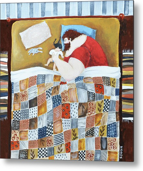 Soosh Metal Print featuring the painting Good Night by Soosh