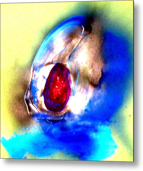 Acrylic Metal Print featuring the painting Heirloom Ruby Ring by Bruce Combs - REACH BEYOND
