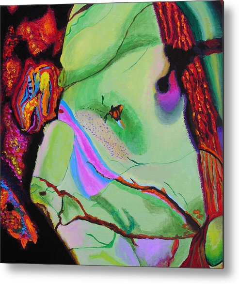 Abstract Metal Print featuring the painting Inspire Vi by Stan Hamilton