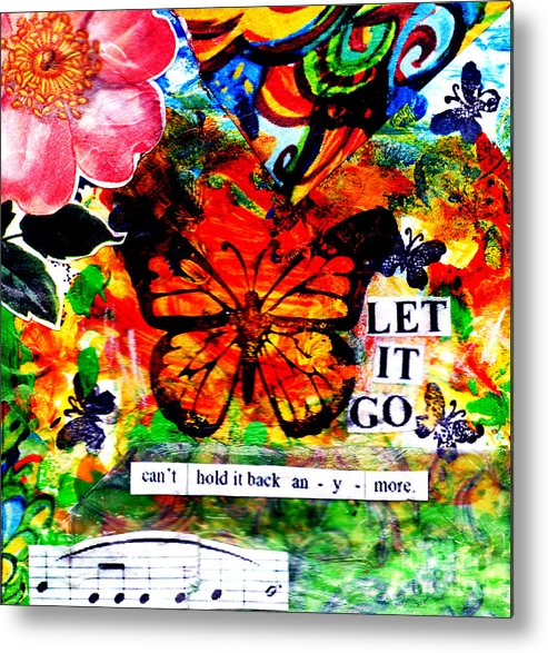 Monarch Metal Print featuring the mixed media Let It Go by Genevieve Esson