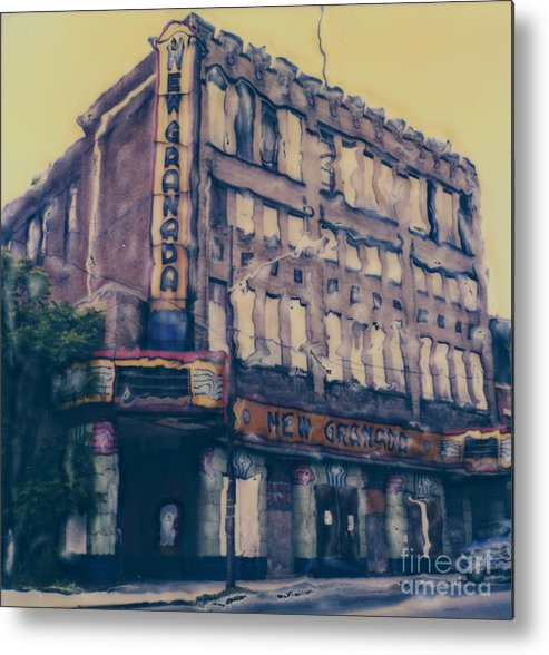 Polaroid Metal Print featuring the photograph New Granada Theatre by Steven Godfrey