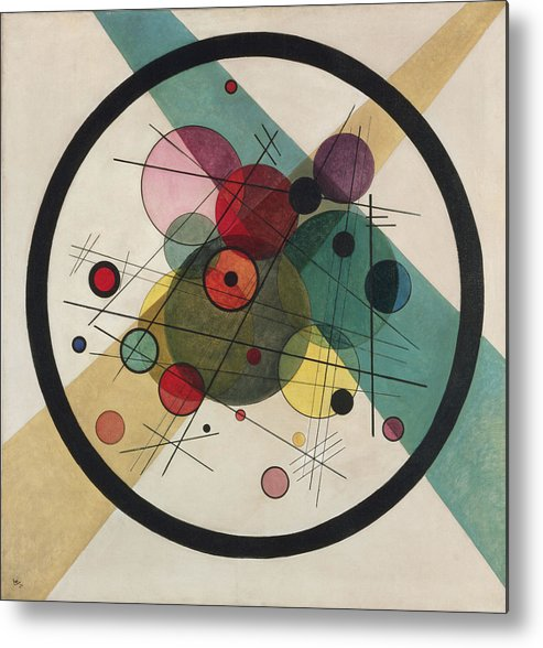 Circles In A Circle Wassily Kandinsky Metal Print featuring the painting Painting by Wassily Kandinsky