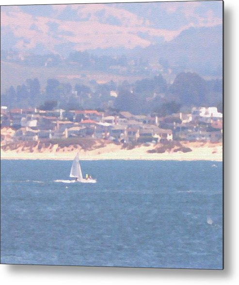 Sailing Metal Print featuring the photograph Pastel Sail by Pharris Art
