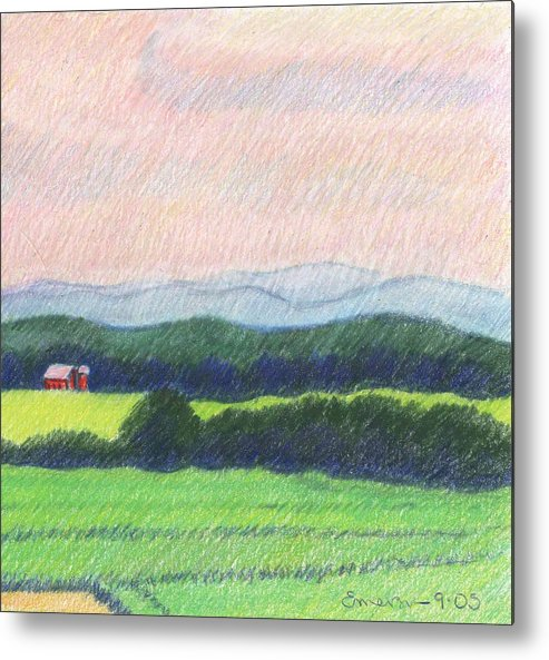 Landscape Metal Print featuring the drawing Pocahontas County by Harriet Emerson