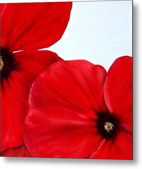 Floral Metal Print featuring the painting Poppy 2 by Penny Everhart