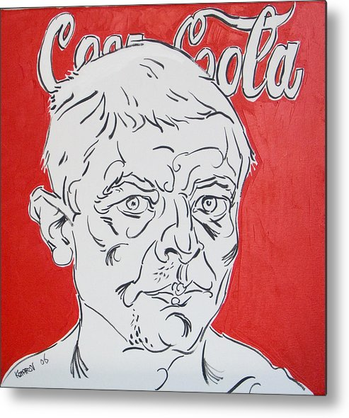 Coca Cola Metal Print featuring the painting Portrait With Coca Cola by Vitali Komarov