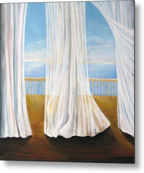 Window Metal Print featuring the painting Room With A View by Eileen Kasprick