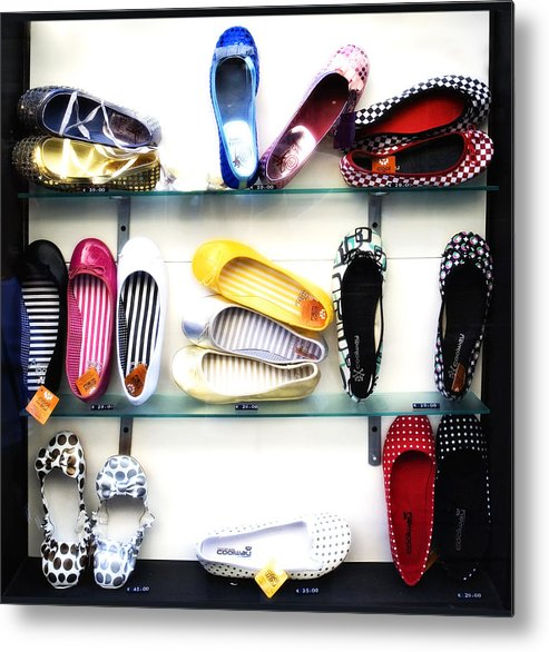 Shoes Metal Print featuring the photograph So Many Shoes... by Marilyn Hunt