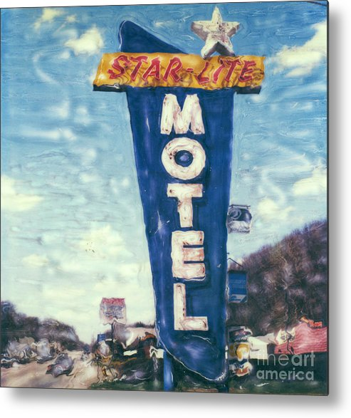 Polaroid Metal Print featuring the photograph Star-lite Motel by Steven Godfrey