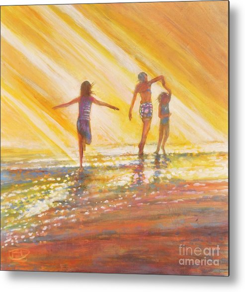 Sisters Metal Print featuring the painting Three Sisters by Kip Decker