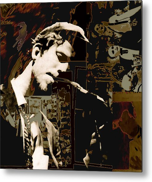 Portrats Metal Print featuring the painting Tom Waits by Jeff DOttavio