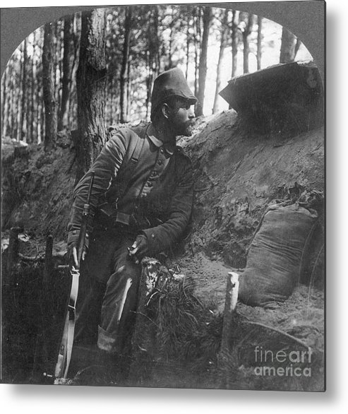 1916 Metal Print featuring the photograph World War I: Soldier by Granger