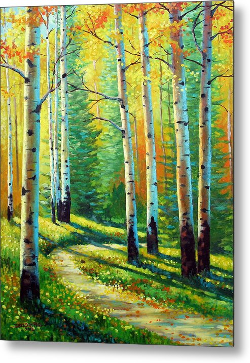 Landscape Metal Print featuring the painting Colors Of The Season by David G Paul