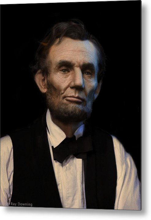 Abraham Lincoln Metal Print featuring the digital art Abraham Lincoln Portrait by Ray Downing