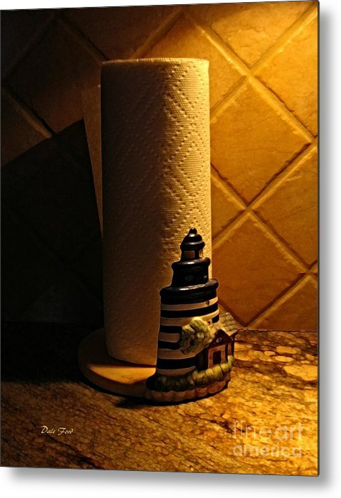 Paper Towel Holder Metal Print featuring the digital art Paper Towel Holder by Dale  Ford