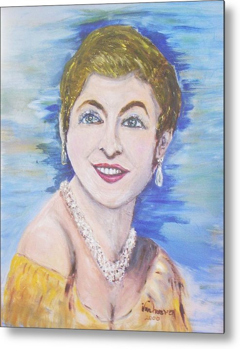 Portrait Metal Print featuring the painting Aspirations by Alfred P Verhoeven