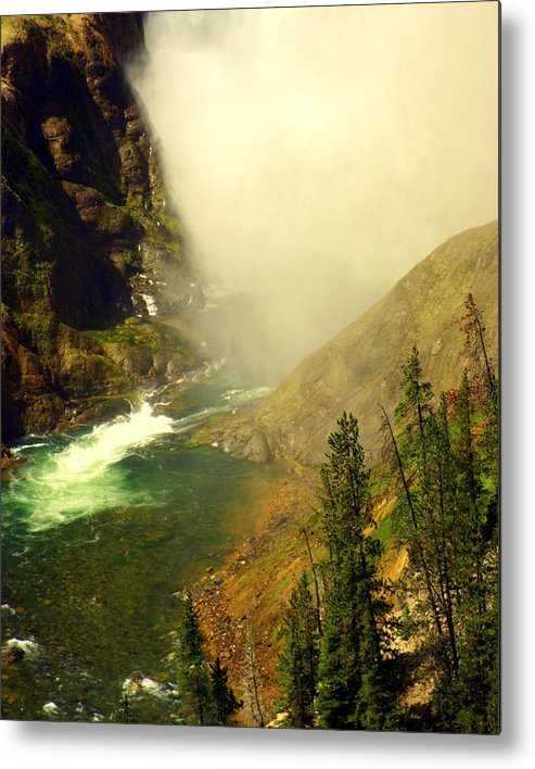 Yellowstone River Metal Print featuring the photograph Base Of The Falls 2 by Marty Koch