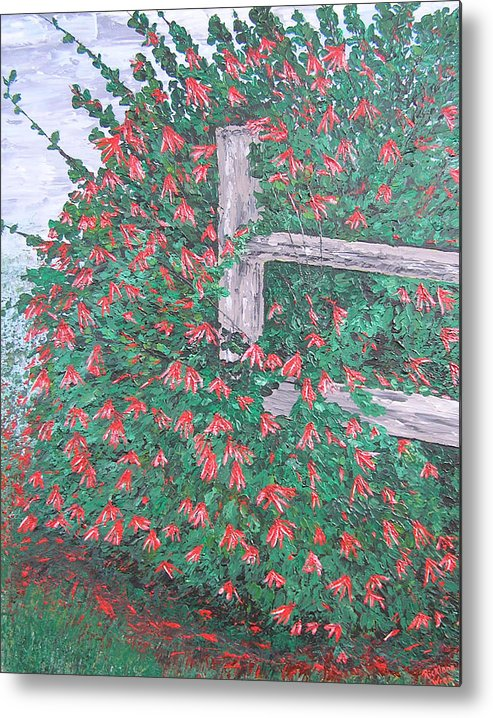 Floral Metal Print featuring the painting Beauty Is Everywhere by Ricklene Wren