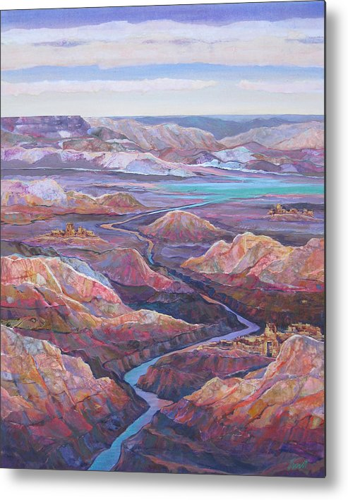 Southwest Metal Print featuring the painting Canyonlands by Don Trout