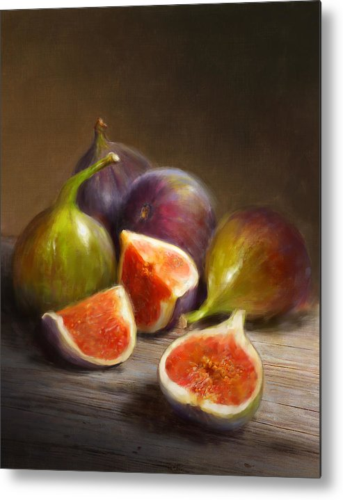 Figs Metal Print featuring the painting Figs by Robert Papp