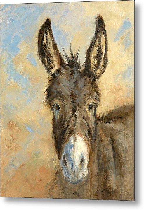Burro Metal Print featuring the painting I'm All Ears by Marla Smith