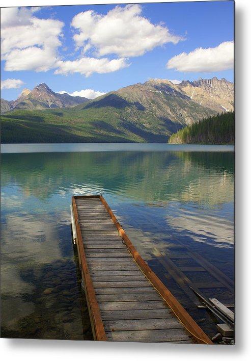 Glacier National Park Metal Print featuring the photograph Kintla Lake Dock by Marty Koch
