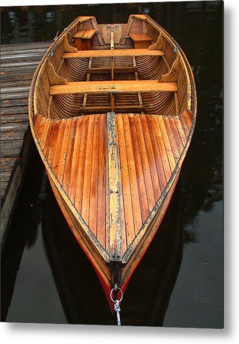Cedar Strip Boat Metal Print featuring the photograph Nipissing Boat by Linda McRae