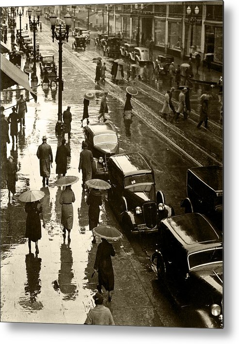 Metal Print featuring the photograph Rainy Day by Unknown