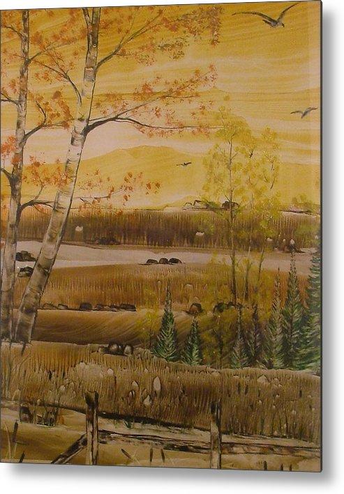 Hidden Lake Metal Print featuring the painting Secret Lake by Shawnah Roy
